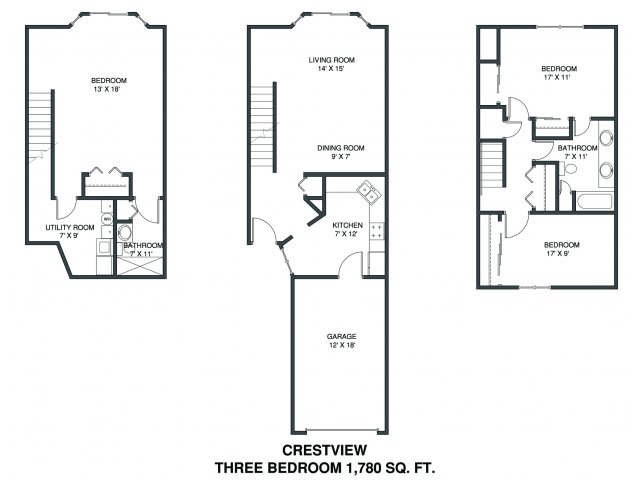 3 bed 2 bath apartment in plymouth mn bass lake hills for Minnesota lake home floor plans
