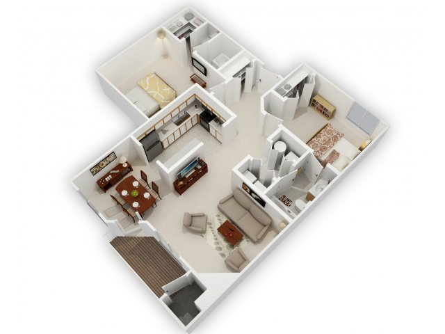 2 Bedroom Split
