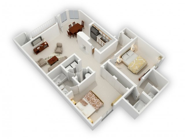 0 For The 2 Bedroom Side By Phase 1 Floor Plan