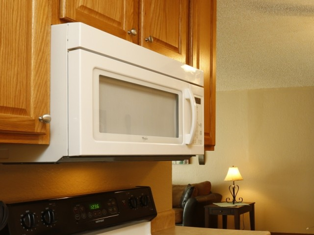 Image of Cabinet upgrade inc OTR Microw for Mountain View Apartments