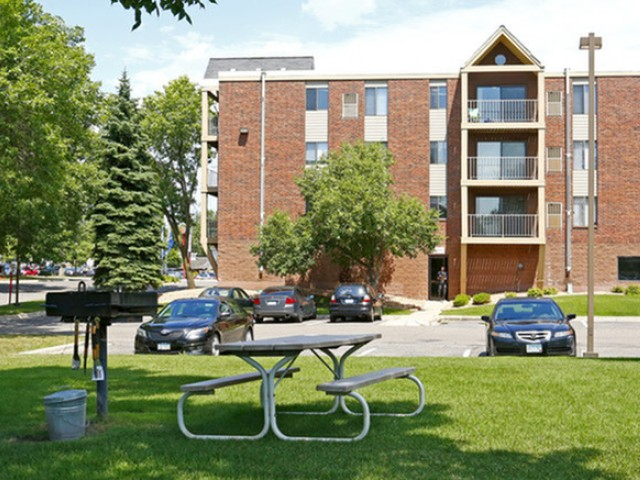 Image of Barbeque grills in courtyard for Westwind Apts