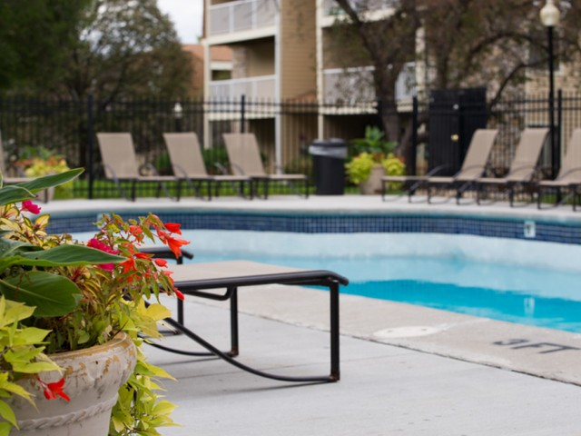 Image of Outdoor, heated swimming pool with sundeck for The Pines of Burnsville