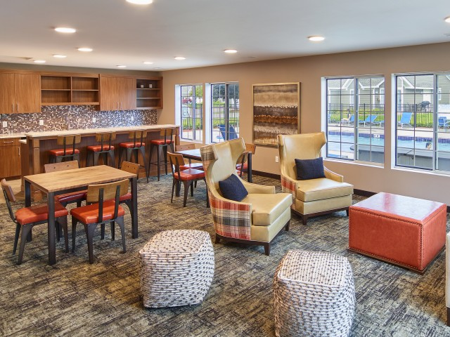 Image of Clubhouse with fully-equipped party room for Mequon Trail TH