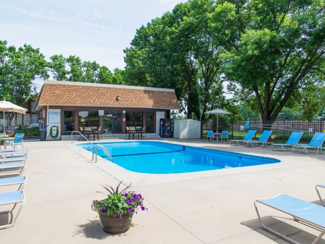 Image of Outdoor heated swimming pool with sundeck for Lancaster Village Apts