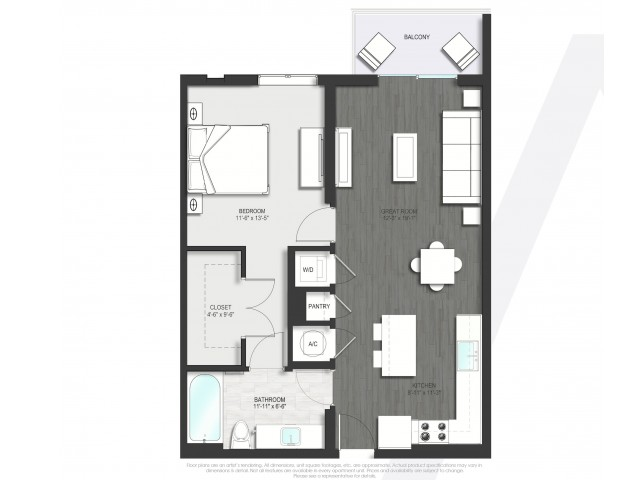 Floor Plan 1 | Boca Raton Apartment | Allure Boca Raton