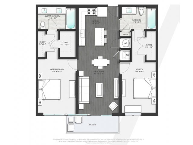 Floor Plan 2 | Apartments Boca Raton | Allure Boca Raton