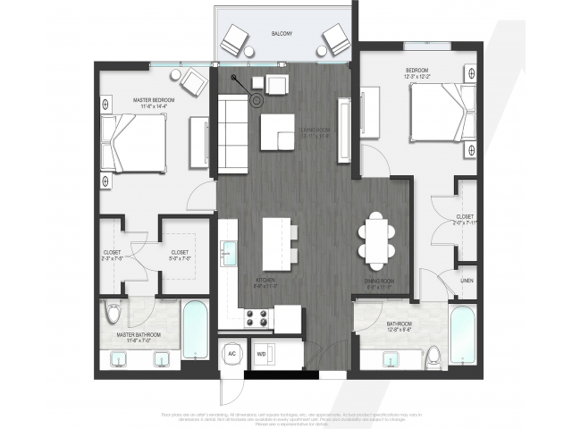 Floor Plan 3 | Apartment For Rent Boca Raton | Allure Boca Raton