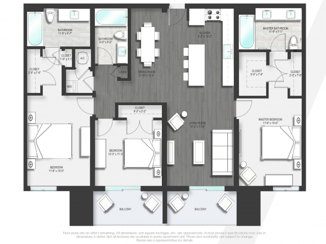 Floor Plan 4 | Luxury Apartments Boca Raton | Allure Boca Raton