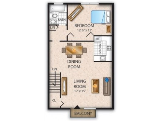 Floor Plan 3 | Pine Hill Apartments NJ | Cedar Brook