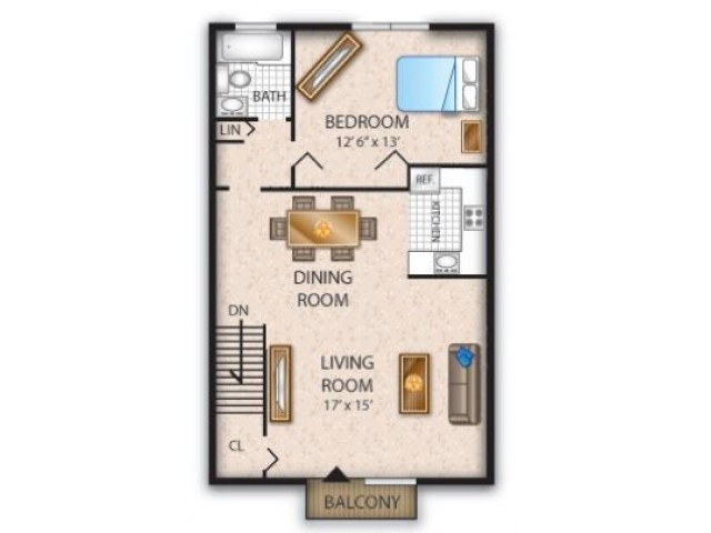 Floor Plan 5 | Pine Hill Apartment | Cedar Brook