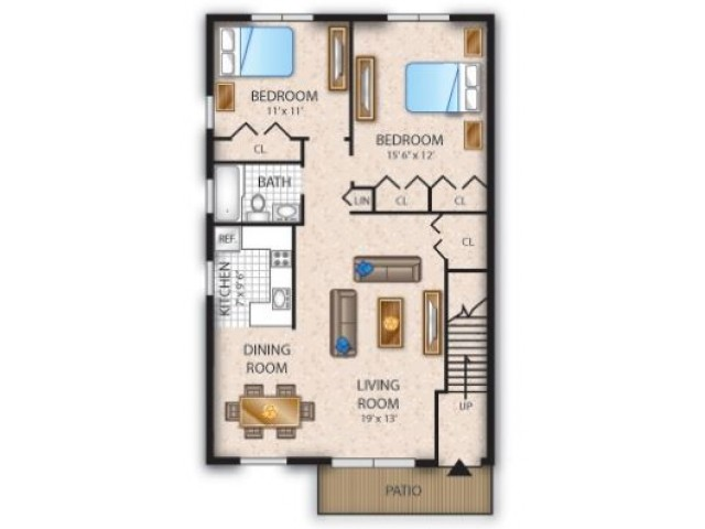 Floor Plan 10 | Pine Hill Apartment | Cedar Brook