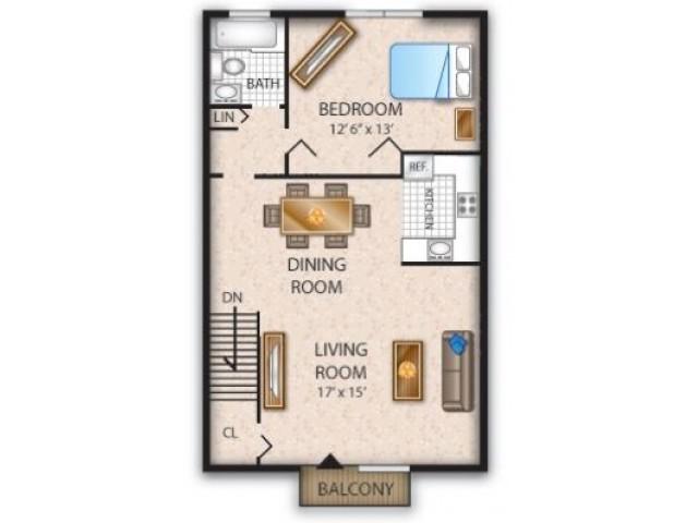 Floor Plan 11 | Pine Hill Apartments | Cedar Brook