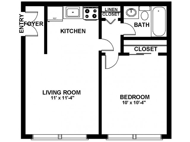 Floor Plan 16 | Apartments In Northeast Philadelphia | Canterbury Court