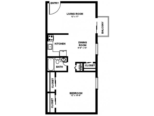 Floor Plan 19 | Apartments In Philadelphia | Canterbury Court