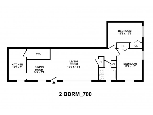 2 Bdrm Floor Plan | Baltimore Apartment For Rent | Greens at Forest Park