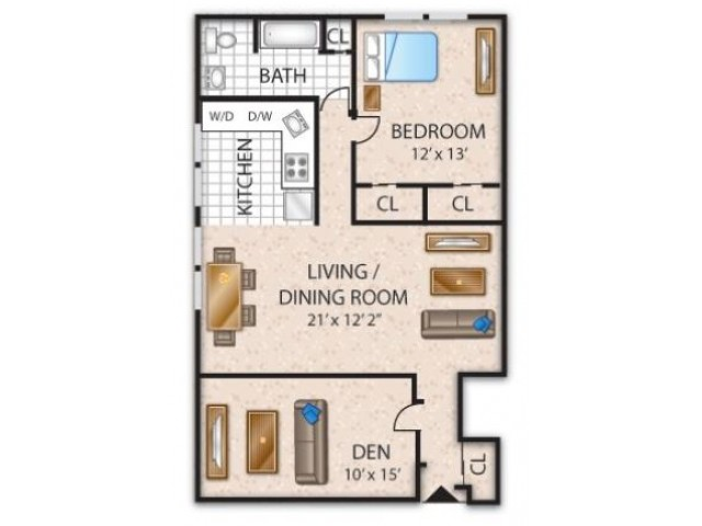 Floor Plan 2 | Apartments In Barrington NJ | Union Grove