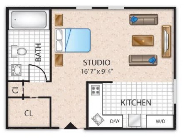 Floor Plan 6 | Barrington Apartments | Union Grove