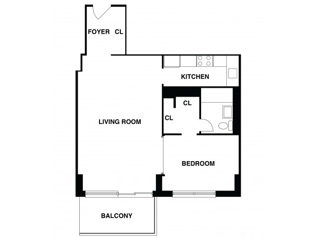 2D Floor Plan 1 | Somerset Apartments | The Harrison
