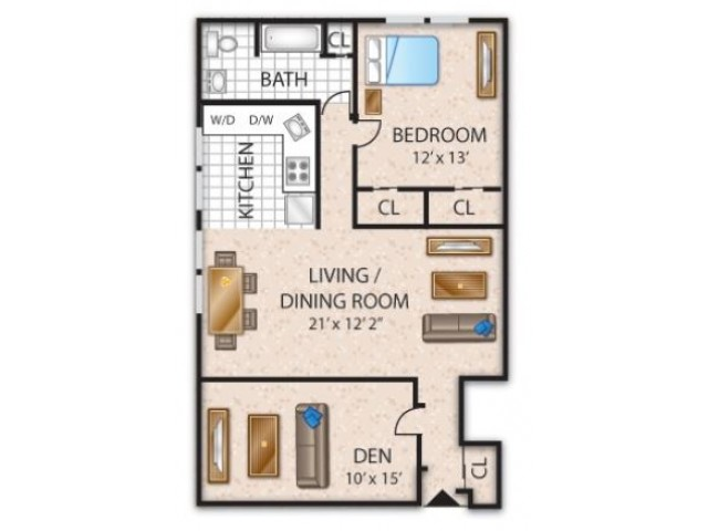 Floor Plan 8 | Barrington NJ Apartments | Union Grove