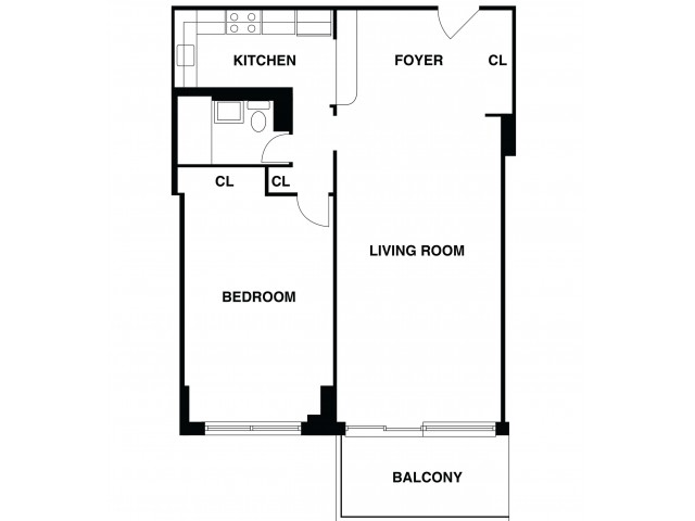 2D Floor Plan 4 | Somerset NJ Luxury Apartments | The Harrison