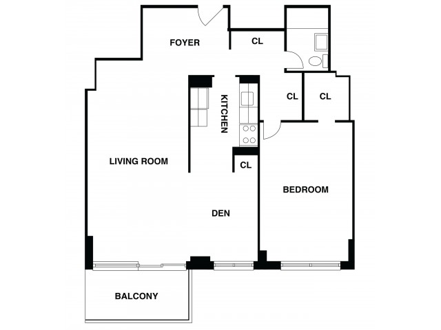 2D Floor Plan 7 | Somerset Apartment | The Harrison