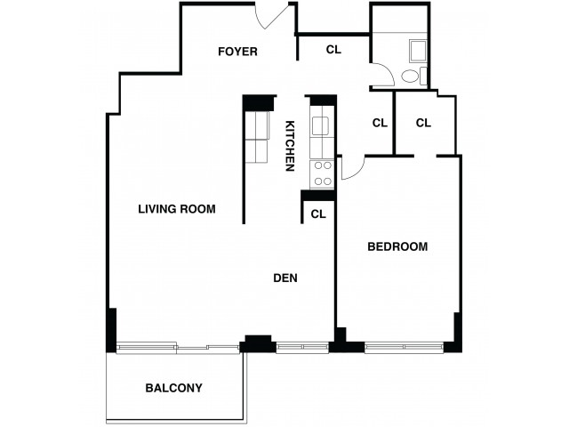 Floor Plan 9 | Somerset NJ Luxury Apartments | The Harrison