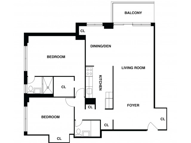 2D Floor Plan 13 | Luxury Apartments In Somerset NJ | The Harrison