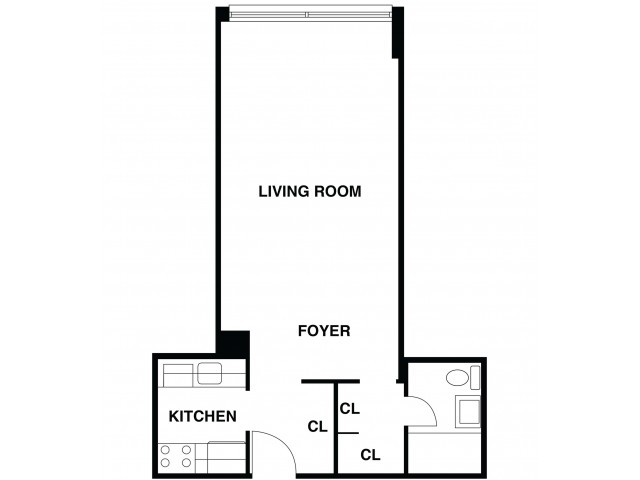 2D Floor Plan 19 | Somerset NJ Luxury Apartments | The Harrison