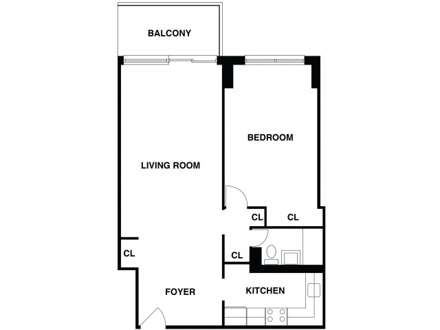 2D Floor Plan 22 | Somerset Apartment | The Harrison