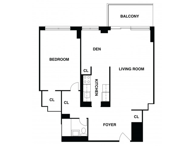 2D Floor Plan 25 | Somerset NJ Apartments | The Harrison