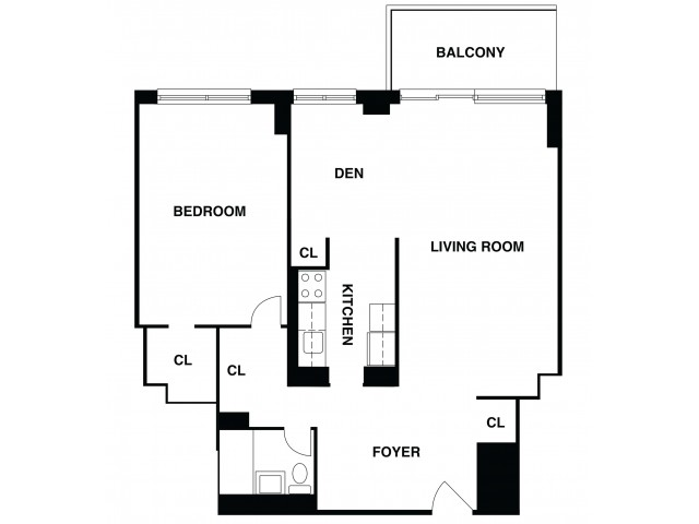 2D Floor Plan 27 | Somerset Apartment | The Harrison