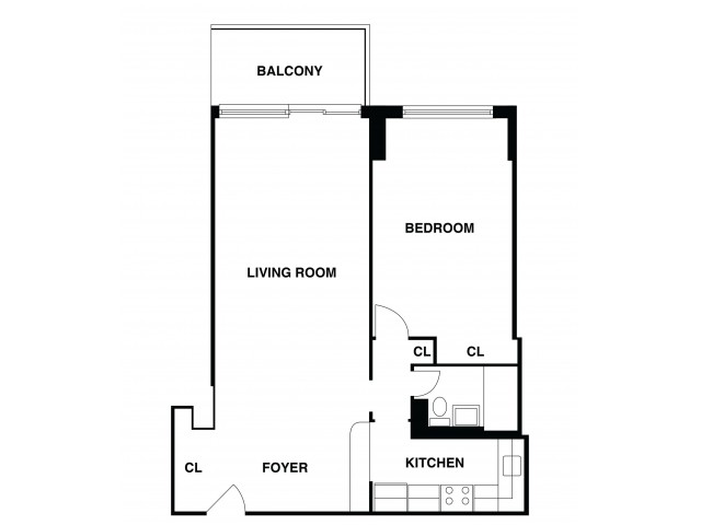 2D Floor Plan 28 | Luxury Apartments In Somerset NJ | The Harrison