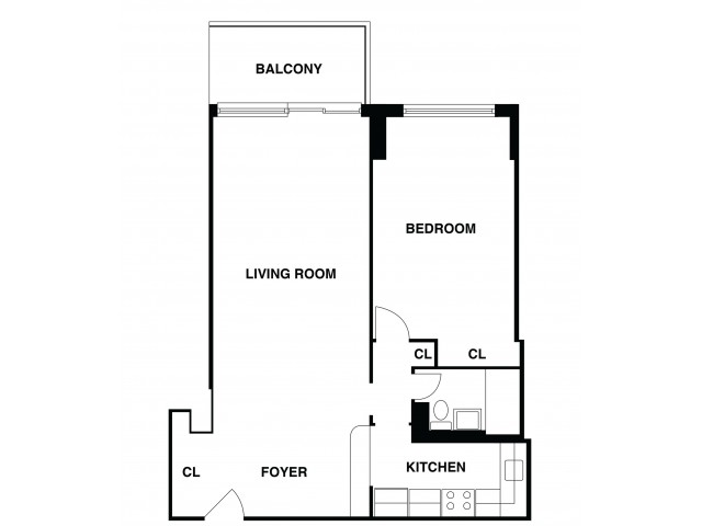 2D Floor Plan 29 | Somerset NJ Luxury Apartments | The Harrison