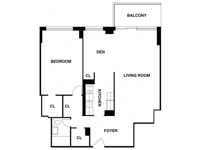 2D Floor Plan 31 | Somerset Apartments | The Harrison