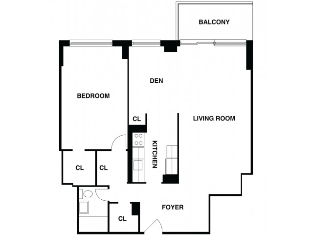 2D Floor Plan 33 | Luxury Apartments In Somerset NJ | The Harrison