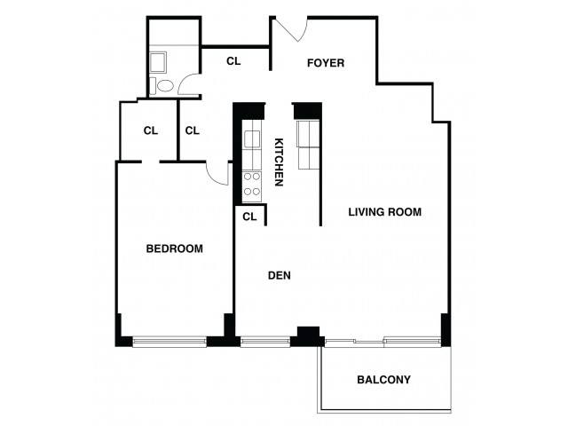 2D Floor Plan 40 | Somerset NJ Apartments | The Harrison