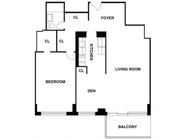 2D Floor Plan 41 | Somerset Apartments | The Harrison