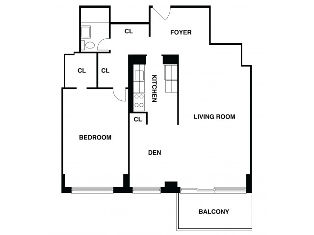 2D Floor Plan 42 | Somerset Apartment | The Harrison