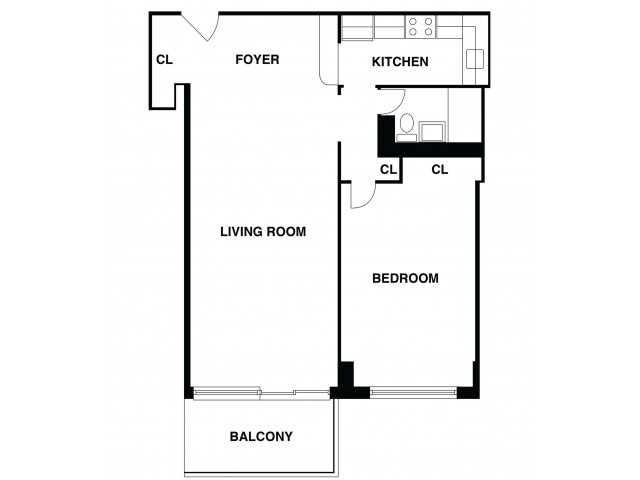 2D Floor Plan 43 | Luxury Apartments In Somerset NJ | The Harrison