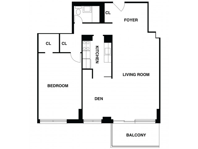 2D Floor Plan 47 | Somerset Apartment | The Harrison