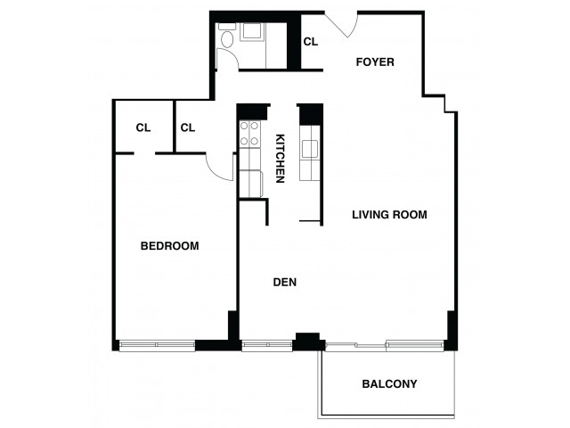 2D Floor Plan 48 | Luxury Apartments In Somerset NJ | The Harrison