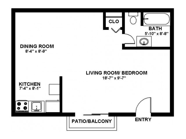 Floor Plan 1 | Pitman NJ Apartments | Holly Court