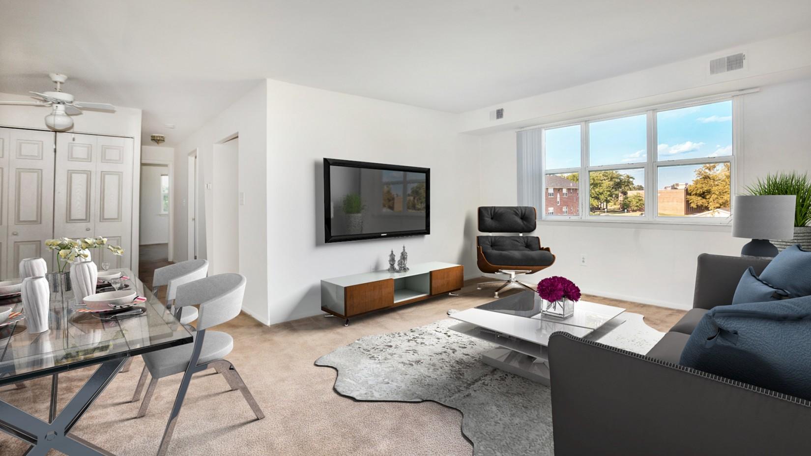 Spacious Living Room | Newark Apartments | Liberty Pointe