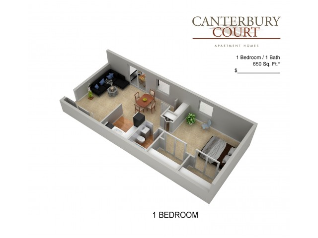 Floor Plan 4 | Apartments In Philadelphia | Canterbury Court