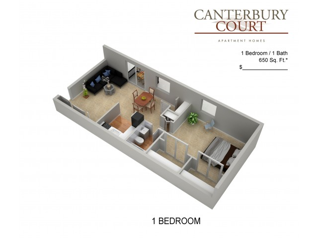 Floor Plan 6 | Apartments In Northeast Philadelphia | Canterbury Court
