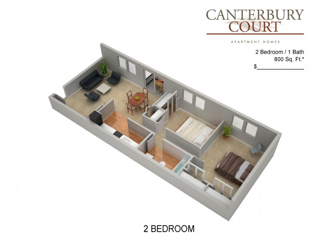 Floor Plan 31 | Apartments In Northeast Philadelphia | Canterbury Court