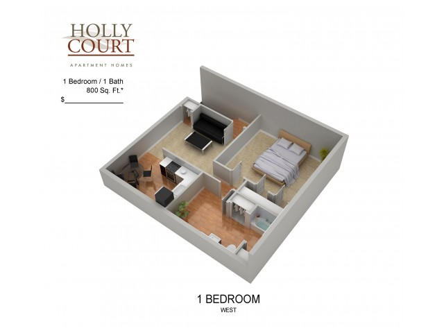 Floor Plan 15 | Apartments Pitman NJ | Holly Court