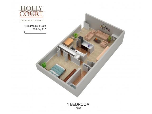 Floor Plan 9 | Pitman Apartments | Holly Court