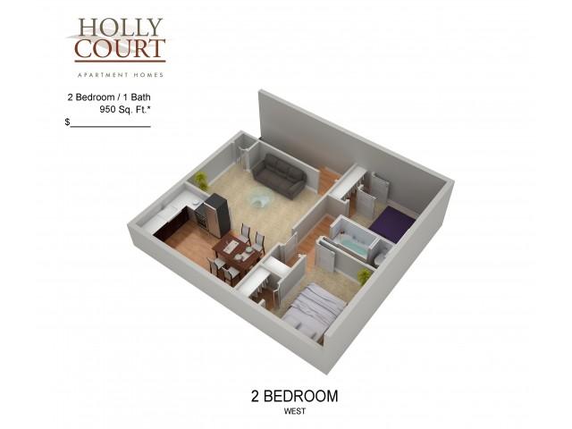 Floor Plan 37 | Apartments In Pitman NJ | Holly Court