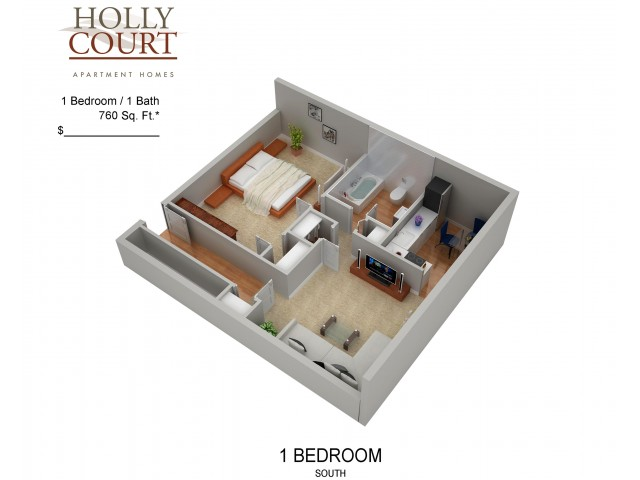 Floor Plan 25 | Apartments Pitman NJ | Holly Court